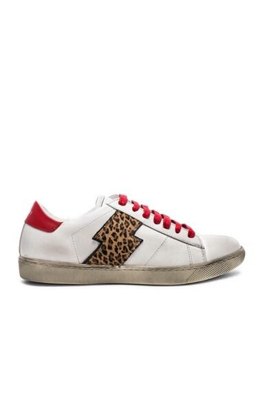 Viper Leopard Calf Hair Low Sneakers