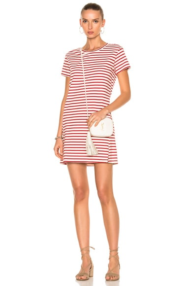 AMO Twist Dress in Red Sailor Stripe