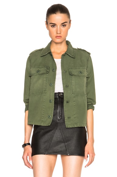 AMO Army Shirt Jacket in Washed Army