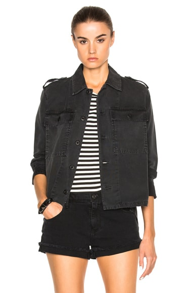 AMO Army Shirt Jacket in Washed Black