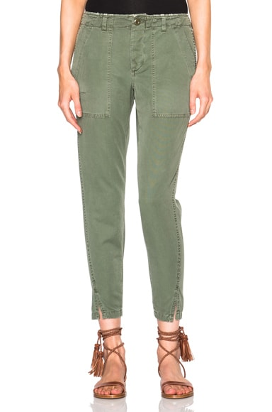 AMO Army Twist Pants in Washed Army