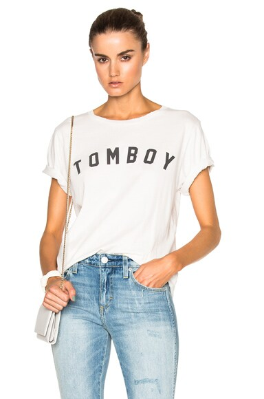 AMO Tomboy Tee in Dirty White