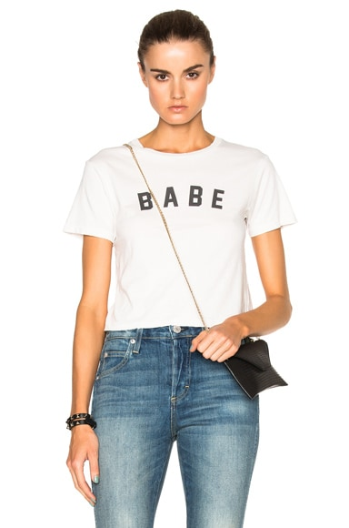 AMO Babe Tee in Dirty White