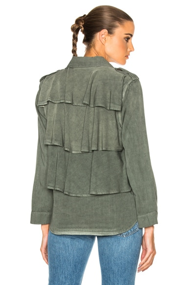 Ruffle Army Twist Shirt Jacket