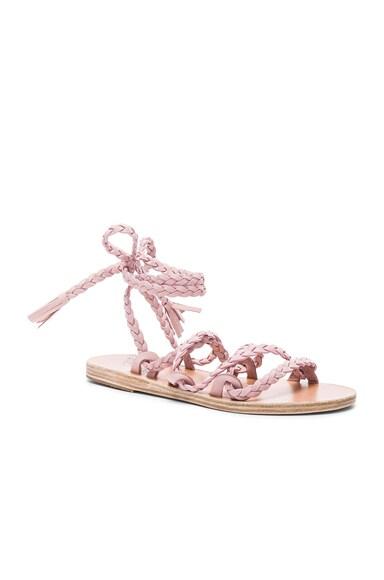 Suede Kariatida Sandals