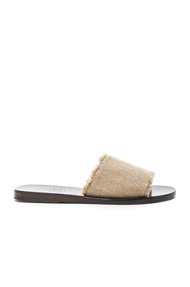 Linen Taygete Sandals Ancient Greek Sandals