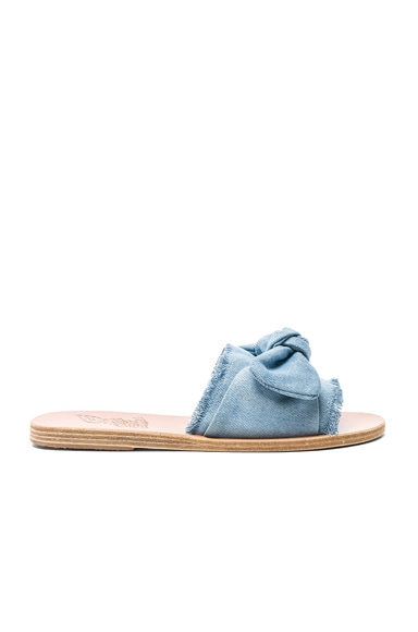 Denim Taygete Bow Sandals