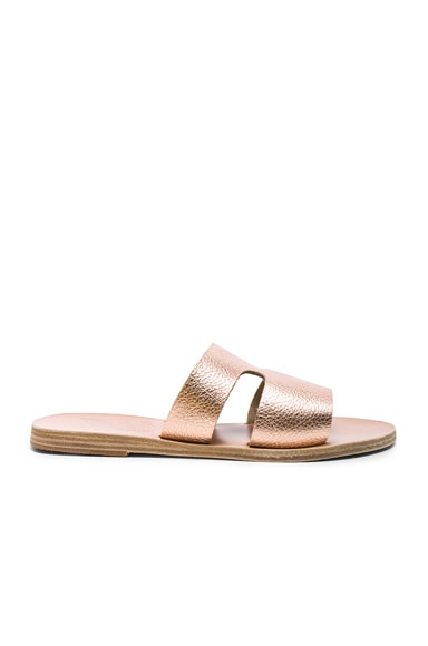 Metallic Leather Apteros Sandals