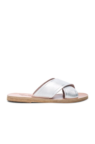 Metallic Leather Thais Sandals
