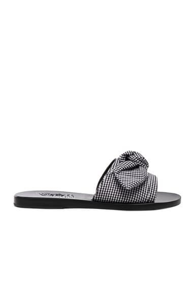 Gingham Taygete Bow Sandals