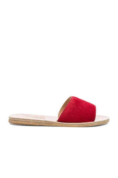 Real Dyed Calf Hair Taygete Sandals