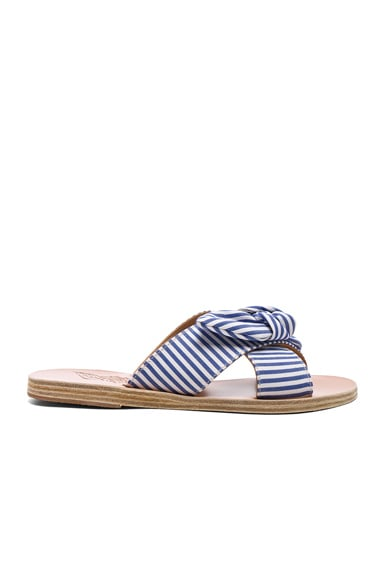 Stripe Thais Bow Sandals