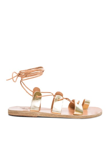 Ancient Greek Sandals Alcyone Sandals in Platinum