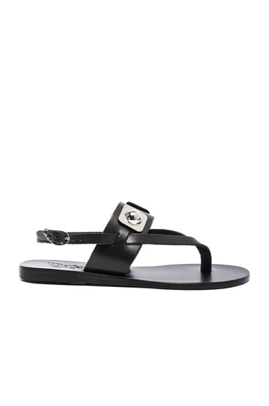 Ancient Greek Sandals x Peter Pilotto Leather Zoe Sandals in Black