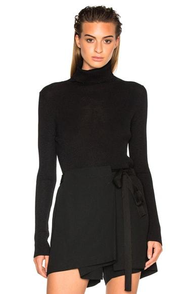 Ann Demeulemeester Knit Turtleneck Sweater in Black
