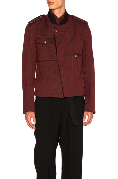 Ann Demeulemeester Blouson in Ruby & Black