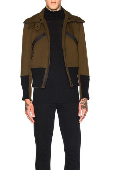 Ann Demeulemeester Bomber Jacket in Khaki