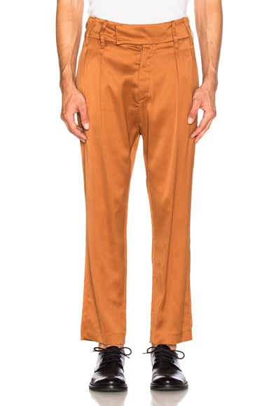 Ann Demeulemeester Trousers in Rust