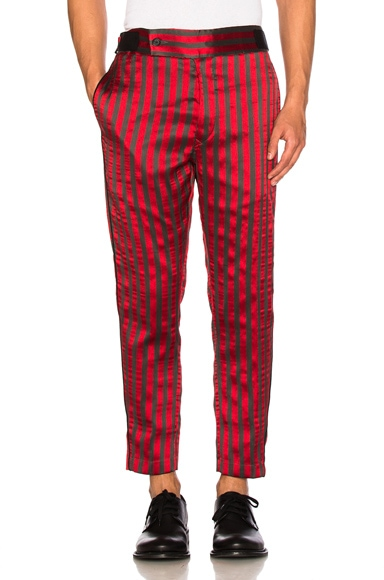Ann Demeulemeester Trousers in Ruby & Grey