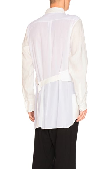 Ann Demeulemeester Strap Back Shirt in Off White