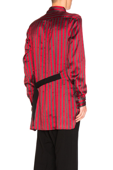 Ann Demeulemeester FWRD Exclusive Shirt in Ruby & Grey