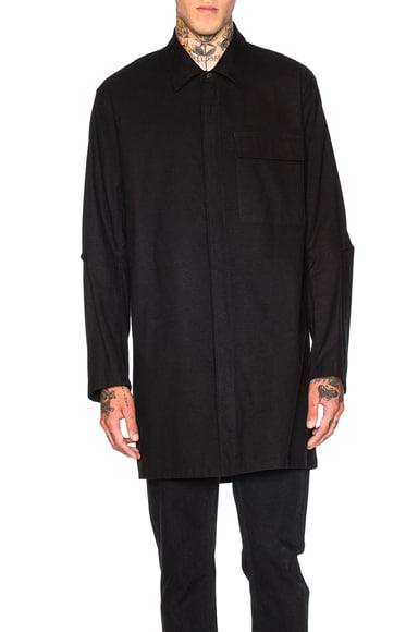 Ann Demeulemeester Pocket Button Down Shirt in Black