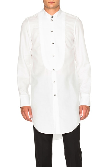 Ann Demeulemeester Tuxedo Shirt in Off White