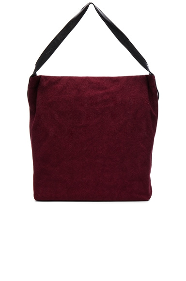 Ann Demeulemeester Tote Bag in Black & Bordeaux