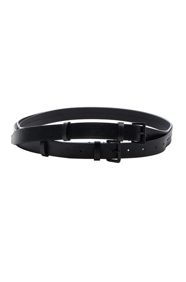 Ann Demeulemeester Leather Belt in Black