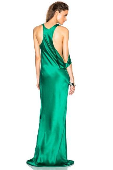Ann Demeulemeester Silk Gown in Emerald