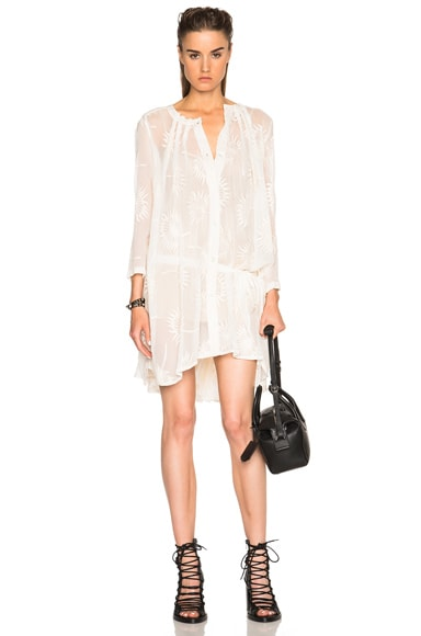 Ann Demeulemeester Khan Dress in Off White/Ecru