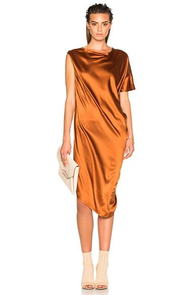 Ann Demeulemeester Drape Dress in Rusty