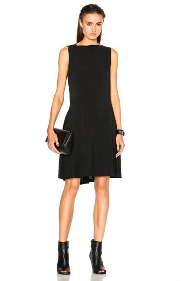 Ann Demeulemeester Asymmetric Shift Dress in Black