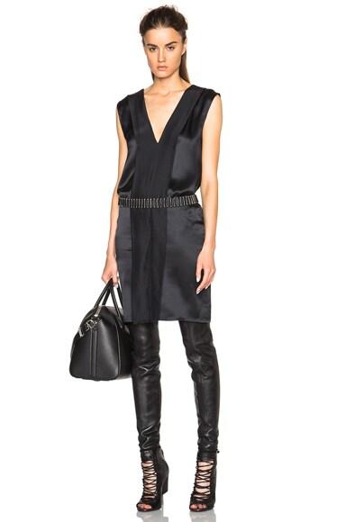 Ann Demeulemeester V Neck Tank Dress in Black
