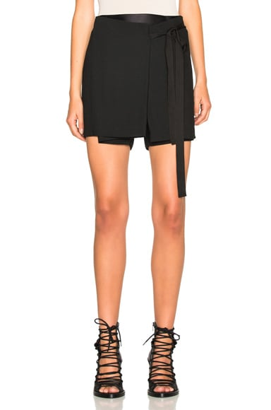 Ann Demeulemeester Wool Viscose Shorts in Black