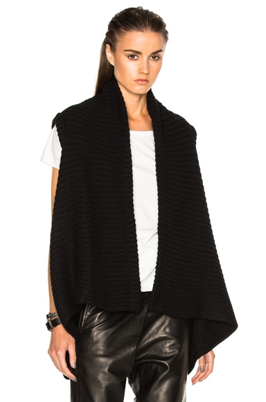 Ann Demeulemeester Wrap Knit Vest in Black