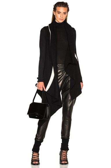 Ann Demeulemeester Rib Knit Vest in Black