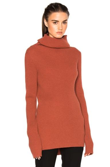 Ann Demeulemeester Turtleneck Sweater in Rusty