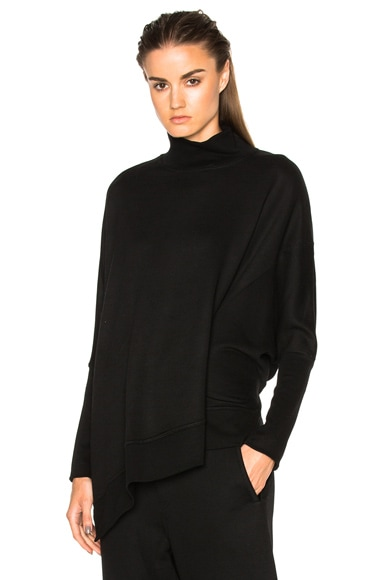 Ann Demeulemeester Turtleneck Asymmetric Sweater in Black