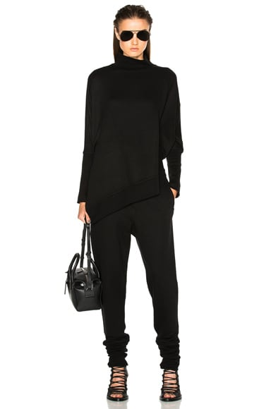 Turtleneck Asymmetric Sweater