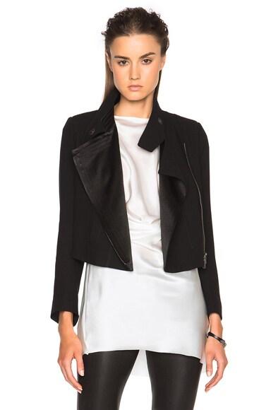 Ann Demeulemeester Drape Jacket in Black