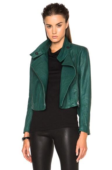 Ann Demeulemeester Drape Jacket in Emerald