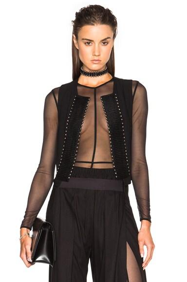 Ann Demeulemeester Embellished Waistcoat in Black