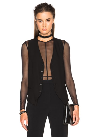 Ann Demeulemeester Classic Waistcoat in Black
