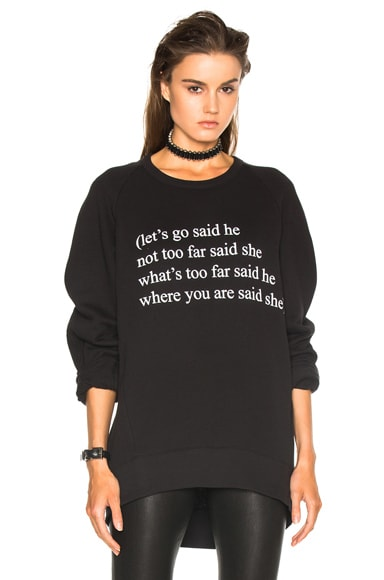 Ann Demeulemeester Poem Sweatshirt in Black