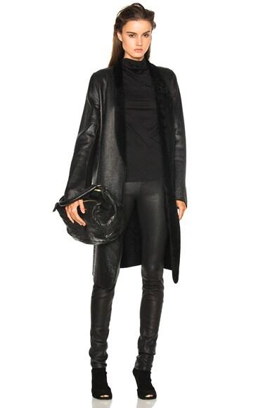 Ann Demeulemeester Shearling Coat in Black