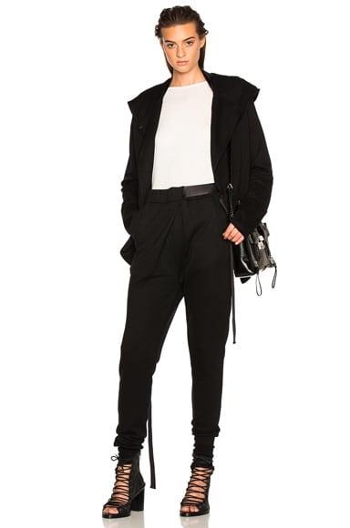 Ann Demeulemeester Fleece Hoodie in Black