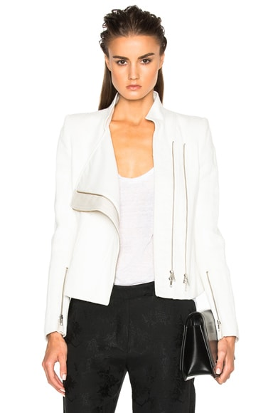 Ann Demeulemeester Jacket in Chalk & Pebble