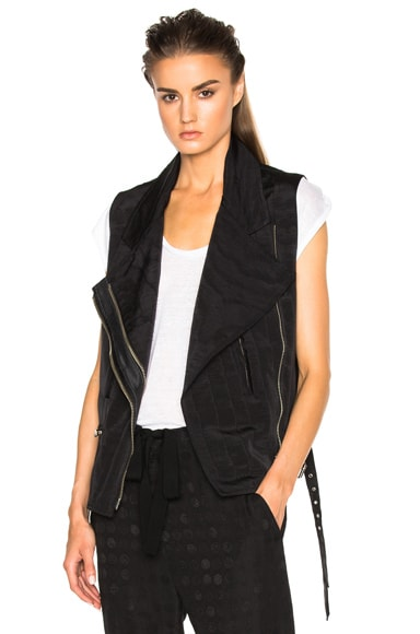 Ann Demeulemeester Sleeveless Moto Vest in Black
