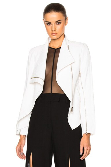 Ann Demeulemeester Drape Jacket in White